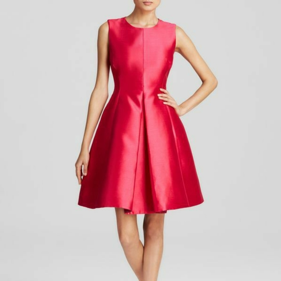 Kate Spade Hot Pink Classic Fit and Flare Dress